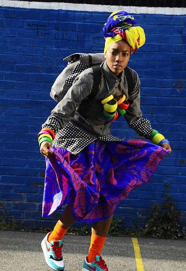 Street style Moda callejera afro fashion